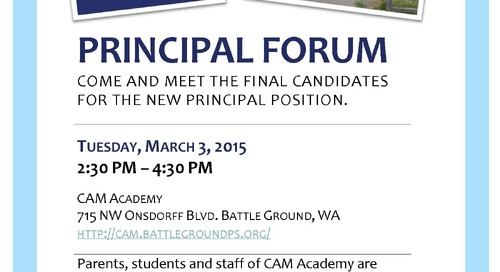 Meet the Candidates at Principal Forums