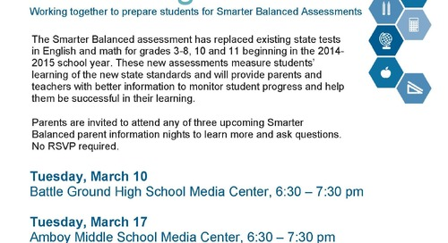 Smarter Balanced Assessment Parent Information Nights