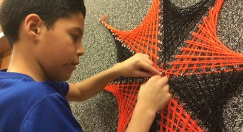 Middle School Students String Together Art, Math, Science
