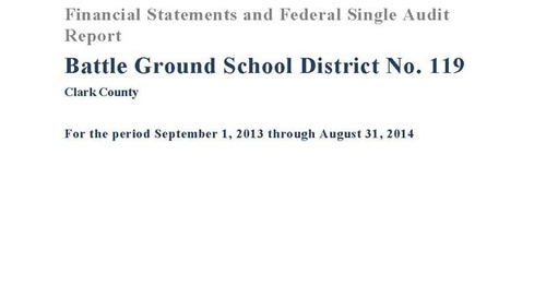 State Auditor Issues Clean Report on Battle Ground Public Schools