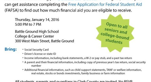 BGHS Offers College-Bound Students Help Applying for Financial Aid