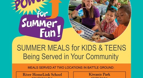 Free Summer Meals Program offers nutritious meals to kids during summer months