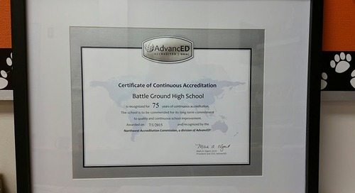 Battle Ground High School Celebrates 75 Consecutive Years of Accreditation
