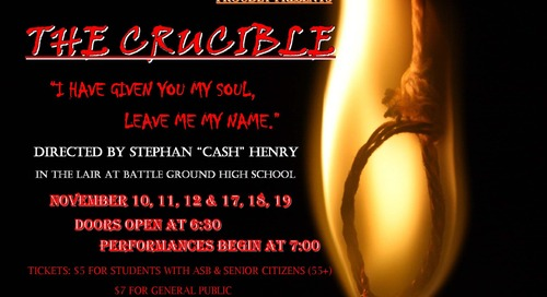 "Battle Ground High School Drama Club to Perform ""The Crucible"""