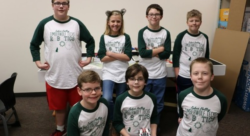 Tukes Valley students study technology using LEGO robots