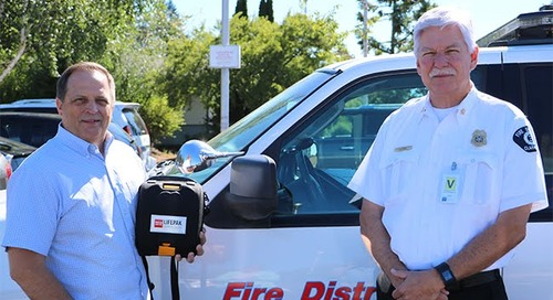 BGPS receives AED from Fire District 3 and American Medical Response
