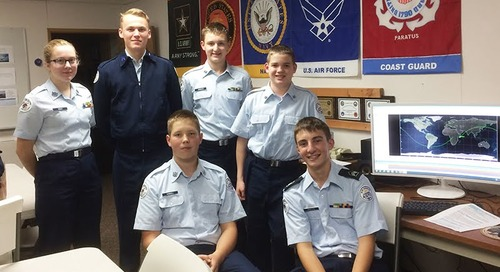 Battle Ground High School AFJROTC Students Participate in National Space Challenge