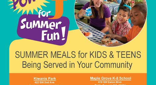 Summer meals program offers nutritious meals to kids