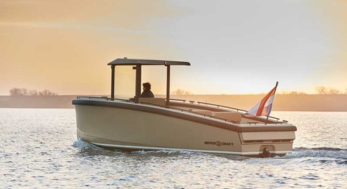 DutchCraft 25 world debut of full electric carbon superyacht tender at Boot 2020