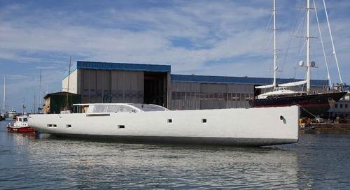 Perini Navi: the hull of S/Y 42m E-volution