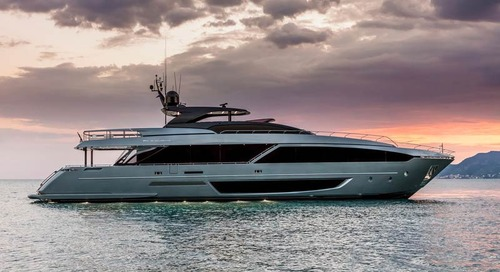 Riva 110' Dolcevita has won the prestigious prize Best Exterior Styling