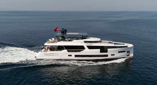 Sirena 88 for its world debut at the Cannes Yachting Festival