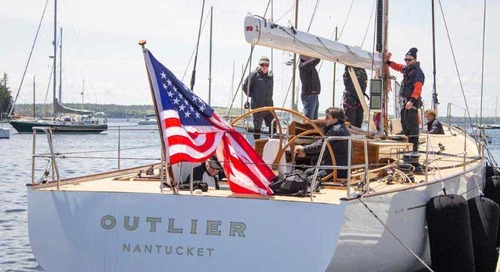 Brooklin Boat Yard launches Custom 55' Sloop