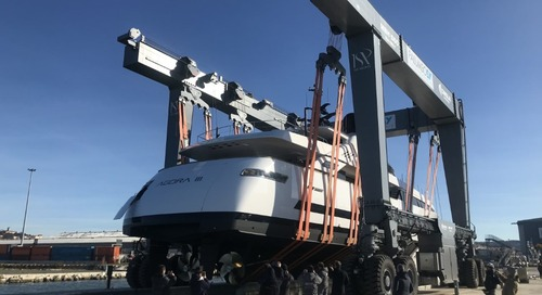 Agora III a 43m motoryacht launched by ISA