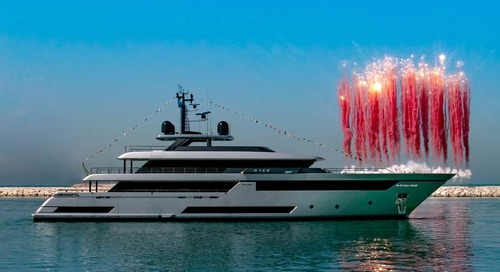 "First superyacht Riva 50 MT M/Y ""Race"" launched in Ancona"