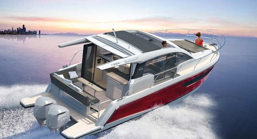Sealine presents its latest outboard-powered yacht