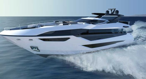 Breathtaking first pictures of Sunseeker's new 100 Yacht