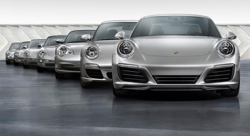 From zero to 1,000,000: Seven generations of the Porsche 911