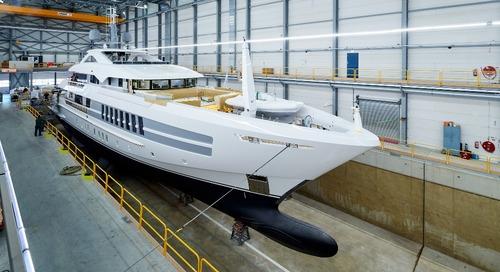 Heesen launches YN 19055, 55-metre steel class