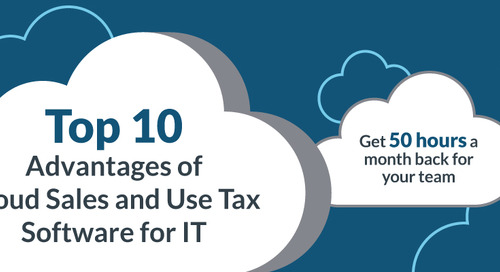 Top 10 Advantages of Cloud Sales and Use Tax Software for IT - INFOGRAPHIC