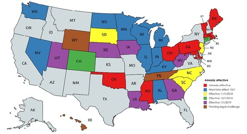 List of States with Economic Nexus Sales Tax Requirements