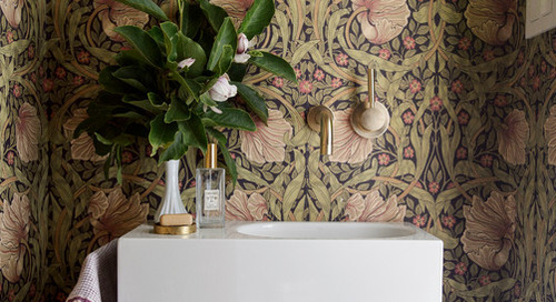 7 Stylish Patterns for a Powder Room Makeover (7 photos)