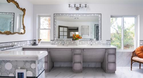 Elegant High-Tech Master Bath Designed for a Wheelchair User (11 photos)