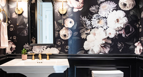 Powder Room Palettes: 10 Beauties in Black (10 photos)