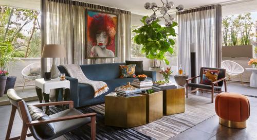 Tour an Interior Designer's Glamorous Midcentury Modern Condo (5 photos)