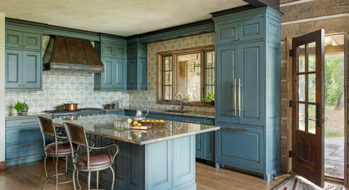 New This Week: 6 Stylish Not-White Kitchen Cabinet Colors (6 photos)