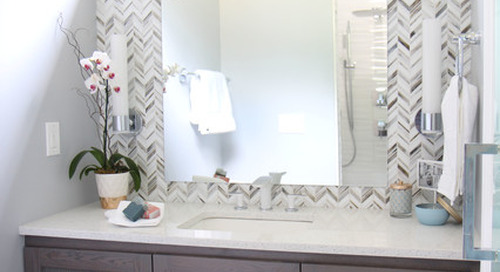 Clever Bathroom Layout Gives 2 Sisters Shared and Private Spaces (11 photos)