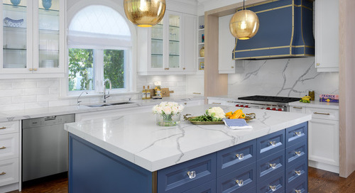 Brass and Blue Boost a Toronto Kitchen (5 photos)