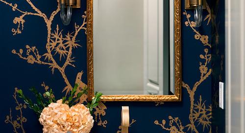 Powder Room Palettes: 10 Handsome Dark Blues (10 photos)
