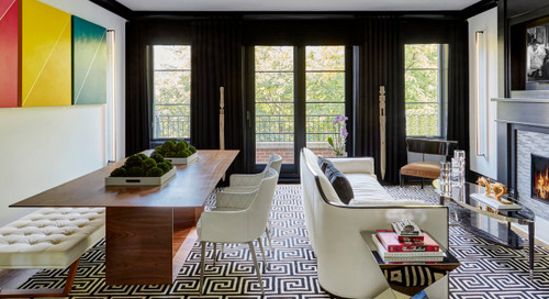 Black-and-White Palette for a Casually Refined Great Room (5 photos)