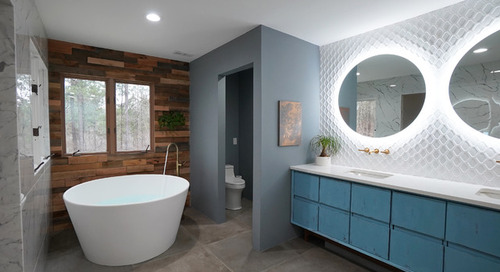 Bathroom of the Week: Wood Walls Warm Up an Eclectic Master Bath (11 photos)