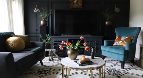 My Houzz: Moody Wall Treatments and Eclectic Style (17 photos)