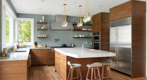 Kitchen of the Week: Walnut Cabinets Channel Midcentury Style (7 photos)