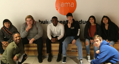 Local High School Students Visit Jama HQ