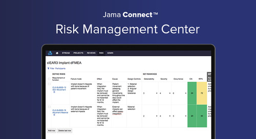Gain Confidence in Your Risk Management Process with Jama Connect