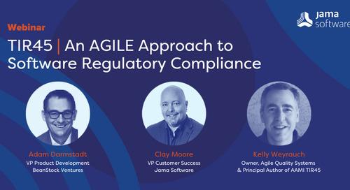 WEBINAR: TIR45 | An AGILE Approach to  Software Regulatory Compliance