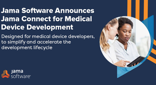 Jama Software Announces Jama Connect™ for Medical Device Development