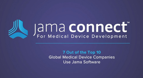 Why Global Medical Device Companies Choose Jama Connect