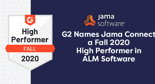 G2 Names Jama Connect a Fall 2020 High Performer in ALM Software