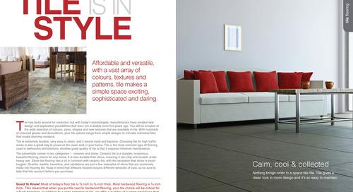 'Fresh Floors' Magazine Shortlisted - 2014 Calgary SAM Awards