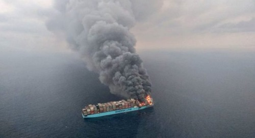 Dangerous goods may have caused Maersk Honam blaze