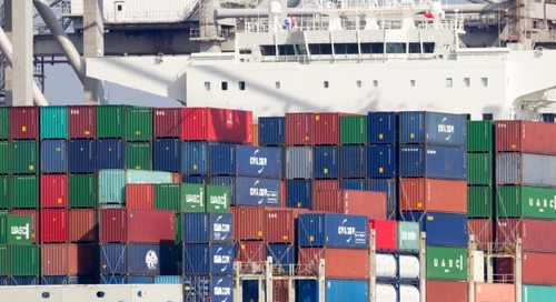 Slide in container freight rates may be beginning to level out