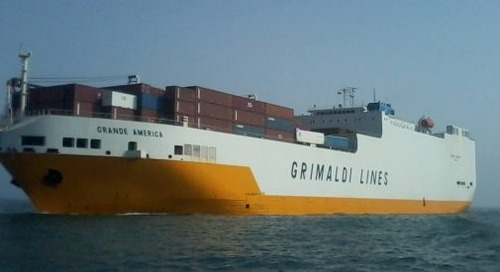 Latest vessel fire leads Grimaldi to demand tighter regs on ocean cargo