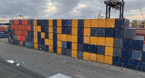 Port of Tilbury boxes clever to salute the NHS