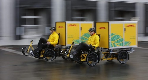 DHL Express to cut vans from roads as it develops Cubicyle for New York streets