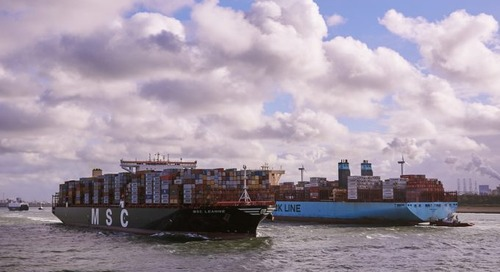 Maersk may be on course to lose its crown as the world's biggest box carrier
